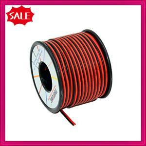 18 AWG電気ワイヤー[黒色20 m赤色20 m]フレキシブルシリコーンワイヤー2コンダクター平行線線ソフト電子フックア|shopyamamoto