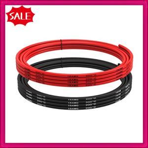 18 AWG電線[3 m黒と3 m赤] 18ゲージのシリコーンワイヤーフックアップワイヤー錫メッキ銅線のケーブル|shopyamamoto