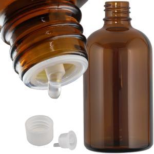遮光瓶(ドロッパー付) 褐色 100ml|shopyuwn