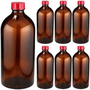 遮光瓶(中栓付) 褐色 500ml 1ケース(6本入)|shopyuwn