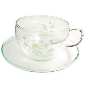 ガラスカップ&ソーサーGCS-1型 カモミール柄|shopyuwn