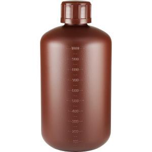 ポリ容器 中栓有り1Lサイズ 茶色 詰め替え用 小分け液体保存 遮光ボトル ポリ容器 業務用サイズ 1リットル 保存容器 大容量1000mlサイズ 軽量遮光容器|shopyuwn