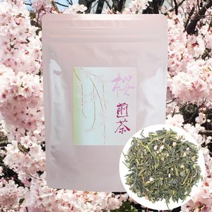 桜煎茶 茶葉 100g さくらグリーンティー 桜緑茶 さくら緑茶 桜茶 さくら茶 桜ティー さくらティー さくらお茶 桜お茶 sakura tea japanese tea 日本茶|shopyuwn
