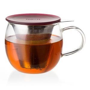 茶濾しフィルター付きガラス ティーカップ(ブリューイン)355ml 耐熱ガラス おしゃれ 食器 ステンレス フィルター付きガラスティーカップ shopyuwn