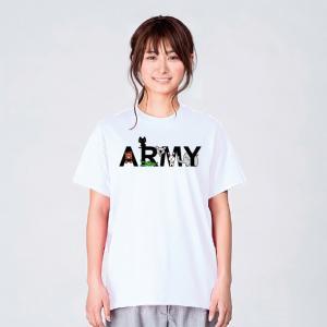 Tシャツ メンズ レディース 半袖 クマ ワニ ウサギ コアラ ゾウ 猫 ARMY  クマ、ワニ、ウ...