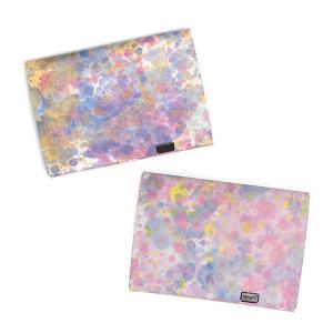 財布 二つ折り 三つ折り メンズ レディース 牛革 所作 ショート1.0 印象派 ピンク&バイオレット|shosa-nonoyes
