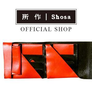 所作 公式 / 財布 / ショートウォレット2.0 / ボレロ / レッド×ブラック|shosa-nonoyes