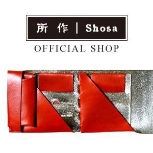 所作 公式 / 財布 / ショートウォレット2.0 / ボレロ / レッド×シルバー / 銀箔|shosa-nonoyes