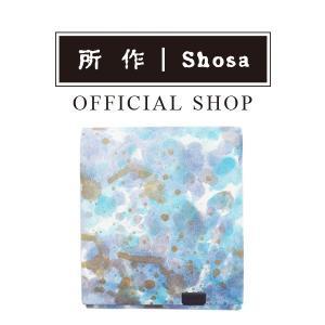 所作 公式 / 財布 / ショートウォレット2.0 / 印象派 / ブルー|shosa-nonoyes