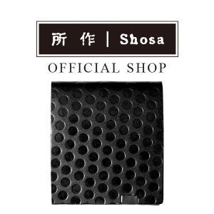 所作 公式 / 財布 / ショートウォレット2.0 / PolkaDot / ブラック×ブラックドット|shosa-nonoyes