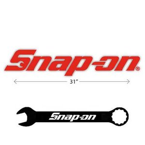 Snap-on(スナップオン)ステッカー「DIE CUT LOGO - RED / LARGE」|shouei-st