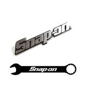 Snap-on(スナップオン)エンブレム「LOGO PLATE SILVER - LARGE」ピンタイプ|shouei-st