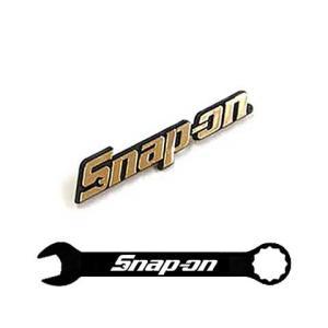 Snap-on(スナップオン)エンブレム「LOGO PLATE GOLD - MEDIUM」ピンタイプ|shouei-st
