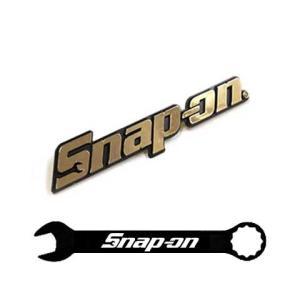 Snap-on(スナップオン)エンブレム「LOGO PLATE GOLD - LARGE」ピンタイプ|shouei-st