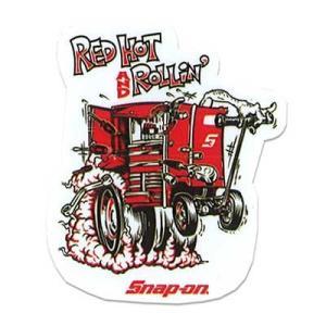 Snap-on(スナップオン)オフィシャルステッカー11「RED HOT - WHITE」 shouei-st