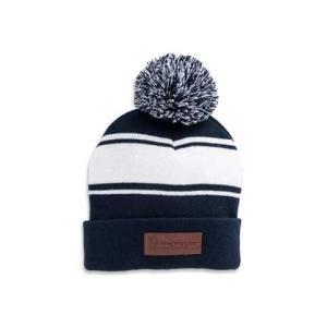 Michelin(ミシュラン)ニット帽,帽子「STRIPED KNIT POM BEANIE」|shouei-st