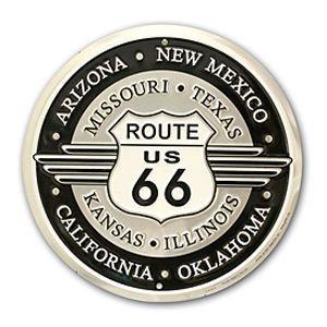 Route.66(ルート66)アルミサインプレート「RT.66 ROUND」|shouei-st
