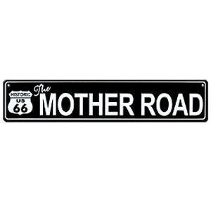 Route.66(ルート66)アルミサインプレート「RT.66 STREET SIGN - BLACK」|shouei-st