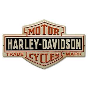 HARLEY DAVIDSON(ハーレーダビッドソン)ティンサイン【3】「H-D BAR AND SHIELD TIN」|shouei-st