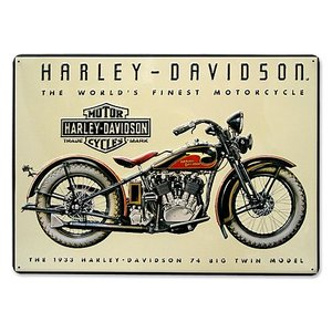 HARLEY DAVIDSON(ハーレーダビッドソン)ティンサイン【5】「H-D 74 BIG TWIN TIN」|shouei-st
