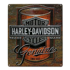 HARLEY DAVIDSON(ハーレーダビッドソン)ティンサイン【6】「H-D CAN LABEL TIN」|shouei-st