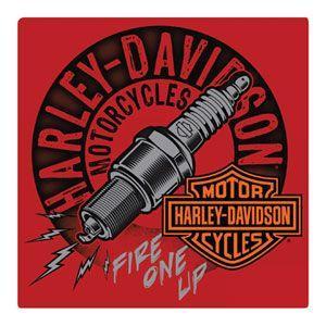 HARLEY DAVIDSON(ハーレーダビッドソン)ティンサイン【8】「H-D SPARKED TIN」|shouei-st