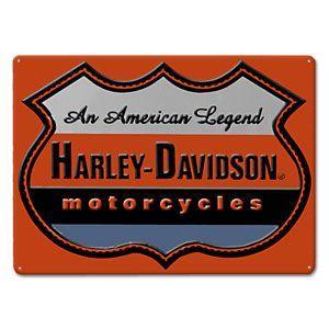 HARLEY DAVIDSON(ハーレーダビッドソン)ティンサイン【9】「H-D AMERICAN LEGEND」|shouei-st