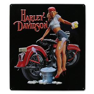 HARLEY DAVIDSON(ハーレーダビッドソン)ティンサイン【12】「H-D BABE WASH TIN」|shouei-st