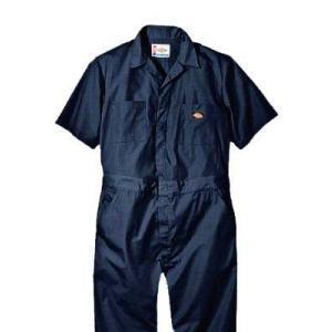 Dickies(ディッキーズ)ショートスリーブカバーオール<夏用半袖ツナギ>ダークネイビー|shouei-st