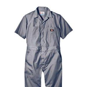 Dickies(ディッキーズ)ショートスリーブカバーオール<夏用半袖ツナギ>グレー|shouei-st