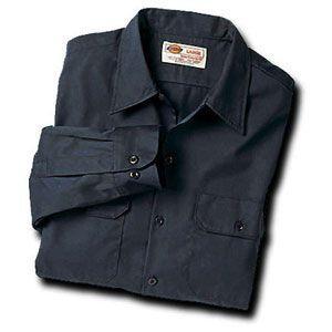 Dickies(ディッキーズ)ワークシャツ、ロングスリーブ(長袖)チャコール shouei-st
