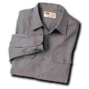 Dickies(ディッキーズ)ワークシャツ、ロングスリーブ(長袖)シルバーグレー shouei-st