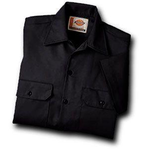 Dickies(ディッキーズ)ワークシャツ、ショートスリーブ(半袖)ブラック shouei-st