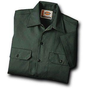 Dickies(ディッキーズ)ワークシャツ、ショートスリーブ(半袖)オリーブグリーン shouei-st