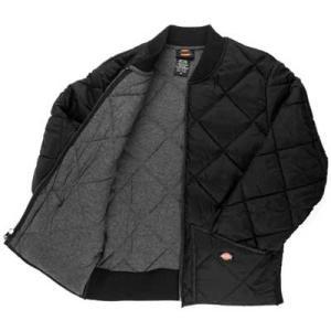 Dickies(ディッキーズ)ダイヤモンドキルティッドジャケット、ブラック|shouei-st
