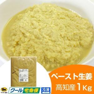 冷凍ペースト生姜1kg 高知県産 しょうが 効能 生姜茶 紅茶 根野菜|shougakoubou
