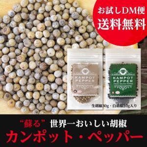 カンポット・ペッパー 生胡椒 30g + 白胡椒 20g クリックポスト送料無料|shougakoubou