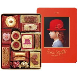 ●【商品内容】 品名/赤い帽子 赤い帽子 クッキー 缶入り 詰合せ オレンジ 洋菓子 詰め合わせ ギ...