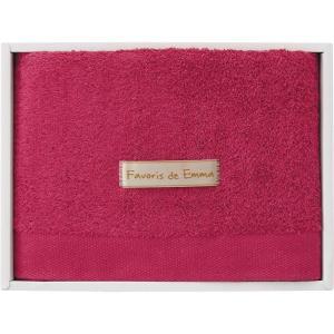 つかいたい贈りたい エマのお気に入り ハーフバスタオル ラズベリーピンク EM02003 19C-9046-560 お祝い 出産内祝 内祝 快気祝 記念品 ギフト|shoujikidou