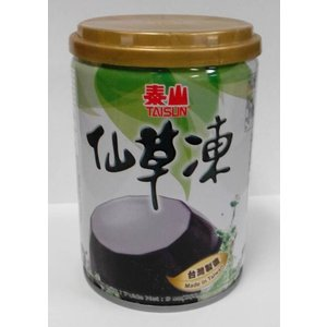 横浜中華街 泰山 仙草凍(仙草ぜリー)加糖タイプ、 255g(缶)、台湾では、薬膳デザートとして、よく食べます♪|shoukoushu