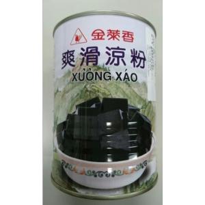 横浜中華街 金莱香 爽滑涼粉( 仙草ゼリー)グラスゼリー 540g(缶)X 1缶、台湾名物、仙草を煮詰めて作ったゼリー♪|shoukoushu