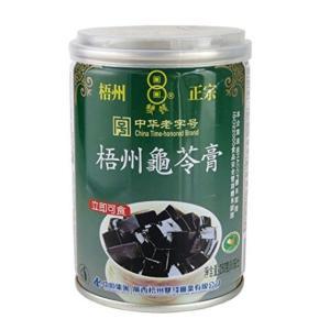 横浜中華街 梧州正宗 亀ゼリー(亀苓膏) 250g(缶)、中国では、美と健康づくりに、デザートとして、よく食べます♪|shoukoushu