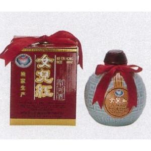 横浜中華街 女児紅(紹興酒)、500ml、壷・化粧箱付き・伝説の老酒・縁起のよいお酒です♪|shoukoushu