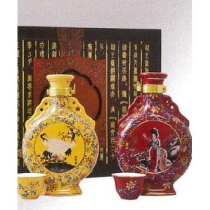 横浜中華街 越王台陳年 陳年30年・25年花彫酒(壷)、300ml、2本セット・送料無料・高級感にあふれ、特別な贈り物としてお勧めです♪|shoukoushu