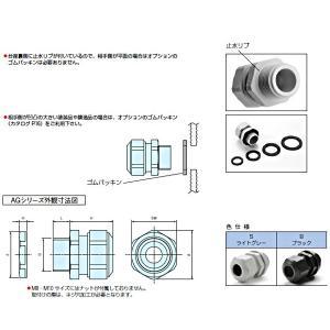 AG12-8B AG型ケーブルグランド 高防水タイプ (19個以上で送料無料) 適合ケーブル径:φ6.5〜φ7.8|shoumei1616|03