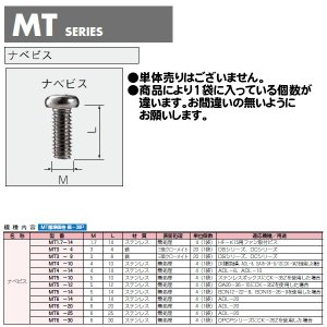 MT3-8 MT型 ビスセット 20個入 [ナベビス](13セット以上で送料無料)
