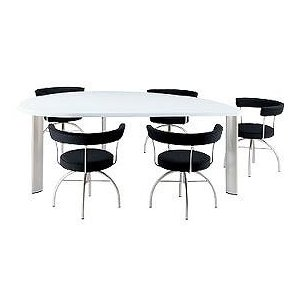 デスク アラウンド ザ ビッグテーブル リーフテーブル・スモールセミ(左) FE-T160L JVCケンウッド ビクターインテリア(Victor) 家具|shoumei