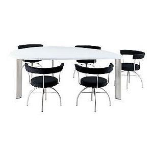 デスク アラウンド ザ ビッグテーブル リーフテーブル・スモールセミ(右) FE-T160R JVCケンウッド ビクターインテリア(Victor) 家具|shoumei