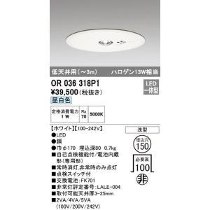 OR036318P1 オーデリック 照明器具 非常用照明器具 ODELIC|shoumei