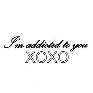 [メール便]エアブラシ ボディージュエリー ヘナタトゥー用ステンシル/Im addicted to ...